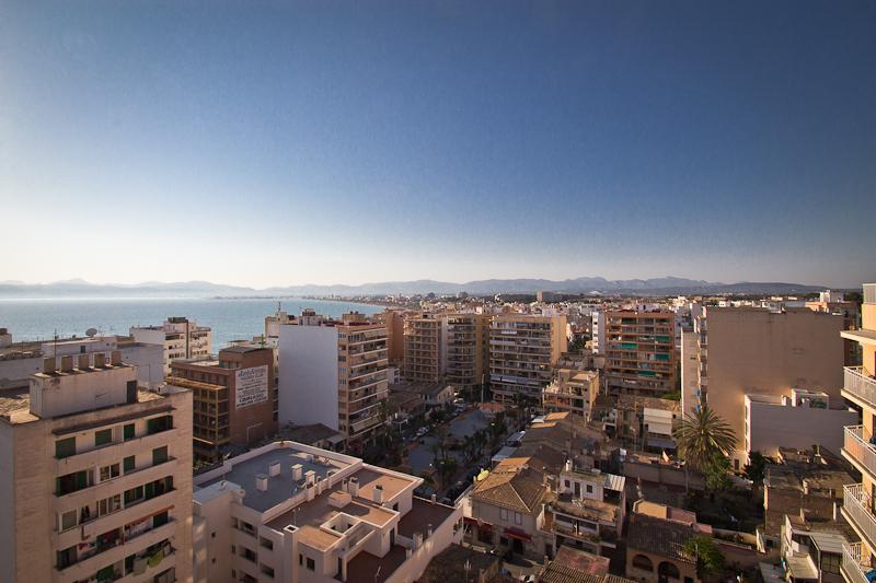 Blick vom Hotel auf die Playa von Palma