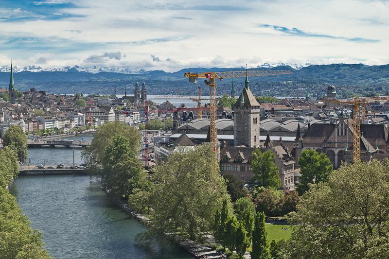Ausblick Marriot Hotel Zürich