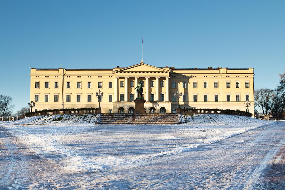 Königliches Schloss in Oslo bei Tag