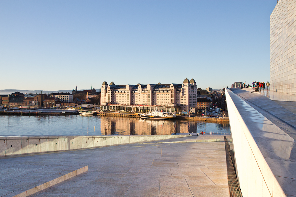 Aussicht Opernhaus Oslo Dach