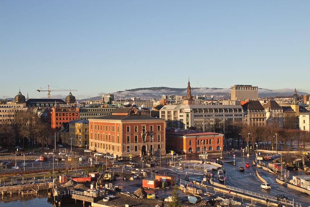 Aussicht auf die Innenstadt Oslo