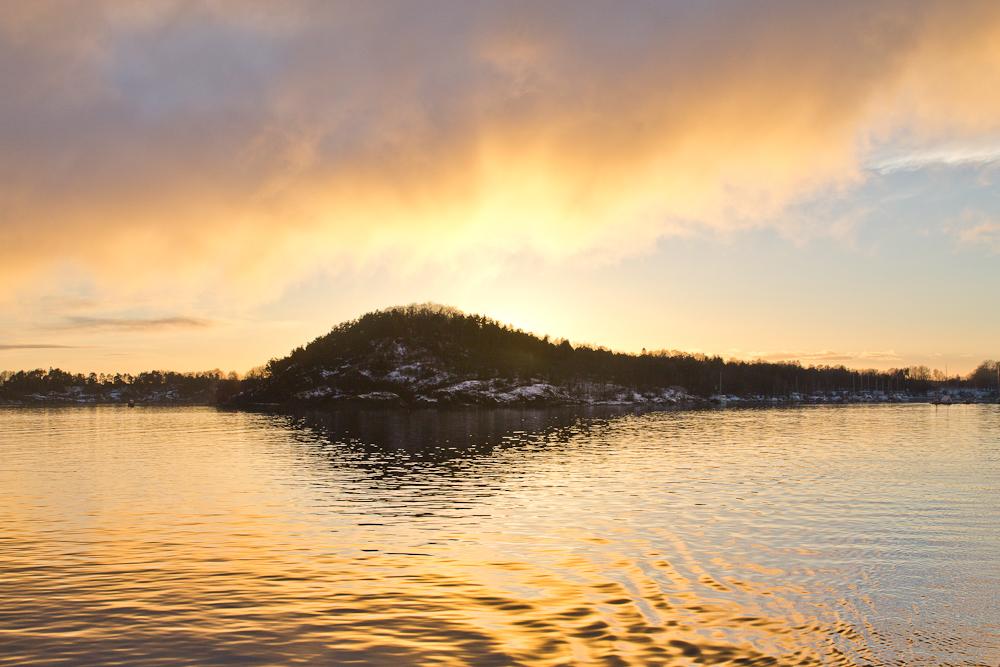 Sonnenuntergang Oslo Fjord