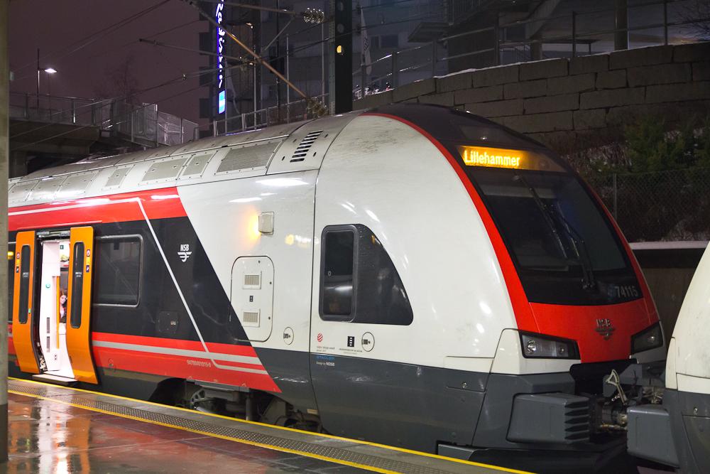NSB Zug Oslo Flughafen
