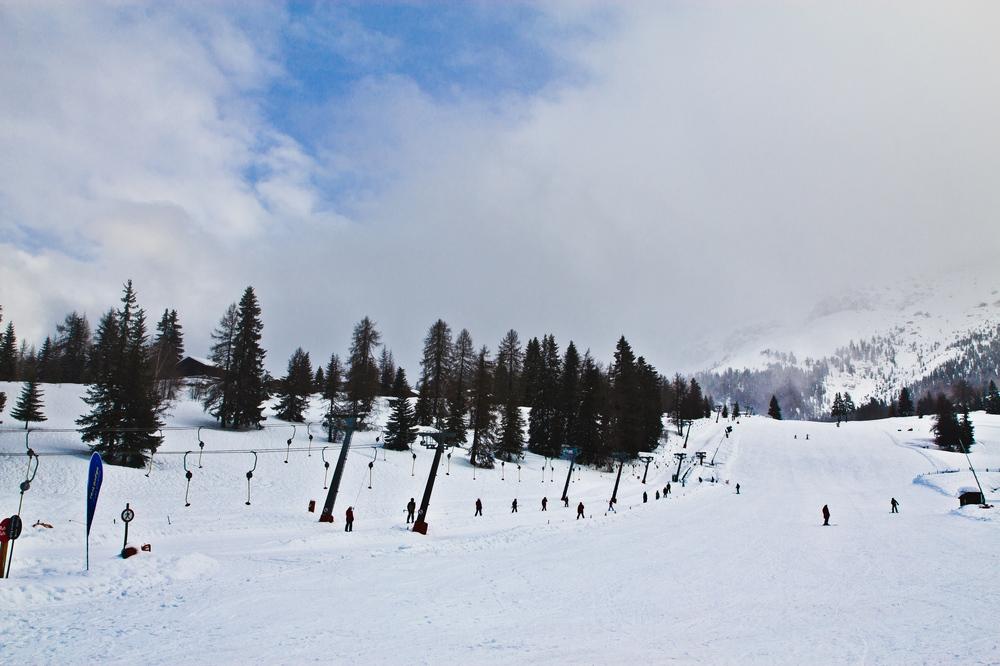 Skiurlaub Skipiste Südtirol Dolomiten