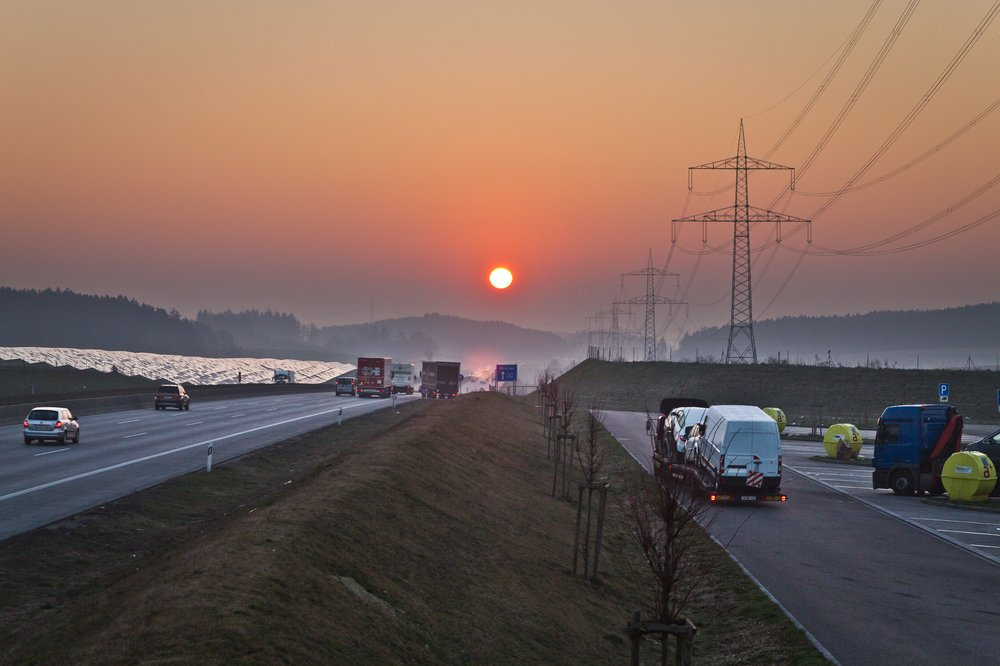 Bundesautobahn Autobahn A8 München Augsburg