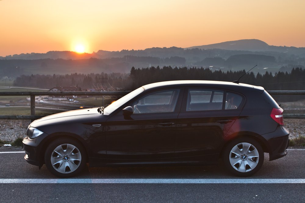 BMW E87 Sonnenuntergang Kempten