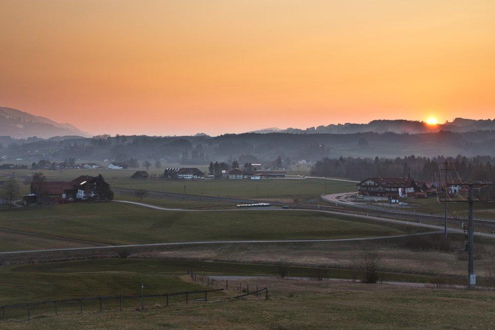 Allgäu Sonnenuntergang Kempten