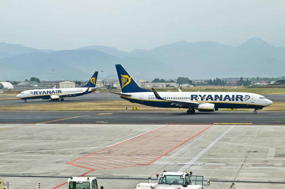 Ryanair Boeing 737 800 Flughafen Bergamo Airport