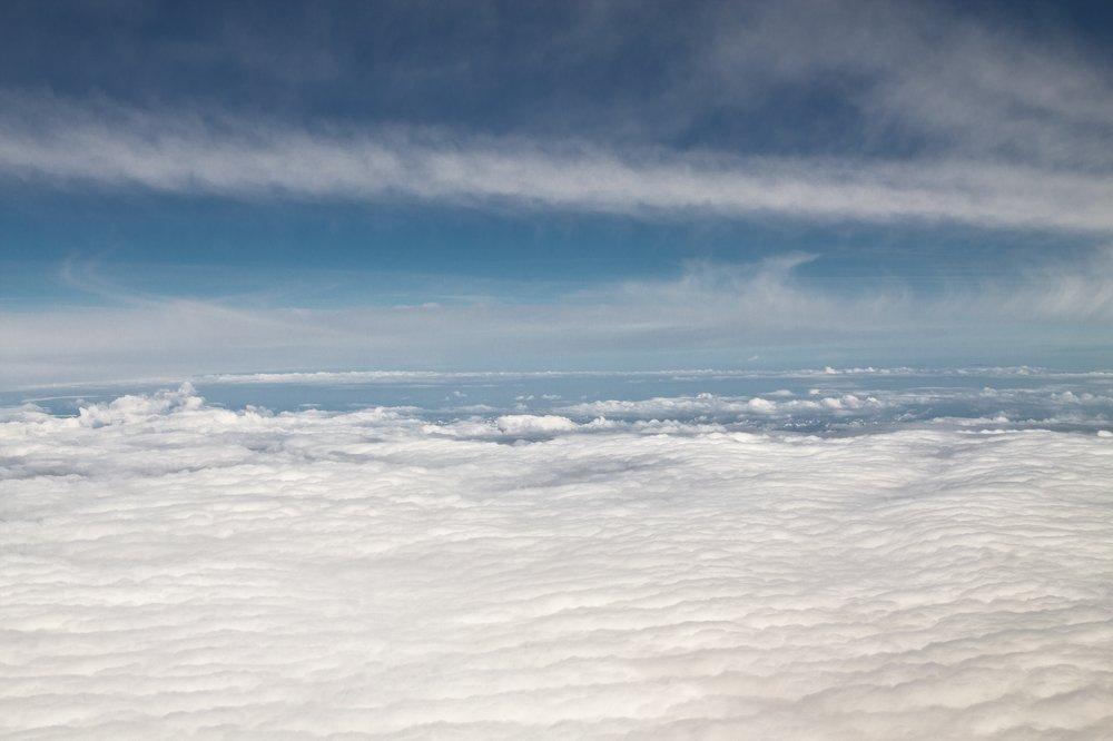 Alpenüberflug Flugzeug