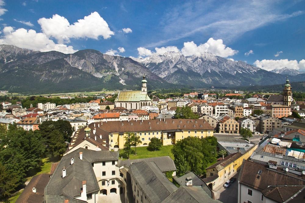 Karwendel Panorama Aussicht Hall in Tirol