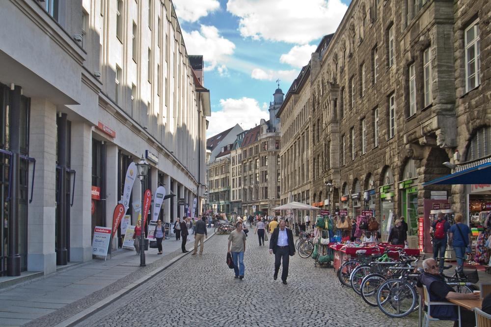 Fußgängerzone Leipzip Innenstadt