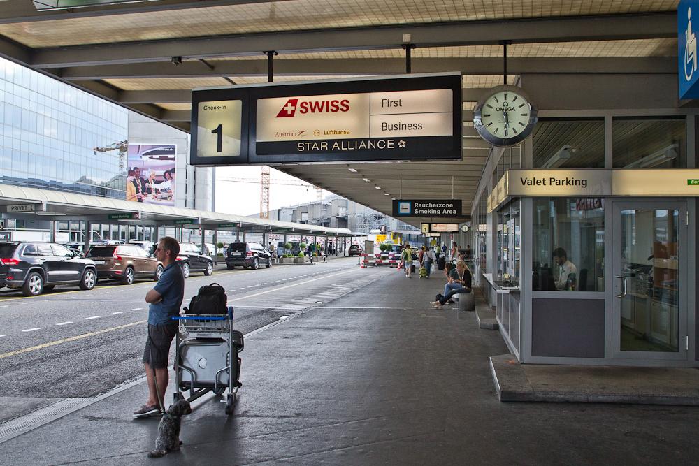 Eingangsbereich Flughafen Zürich