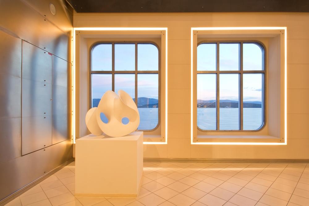MS Europa 2 Interior Lobby Window