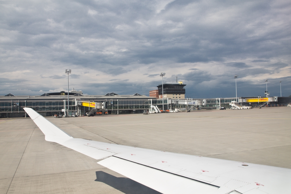 Terminal Leipzig Tower Abflughalle