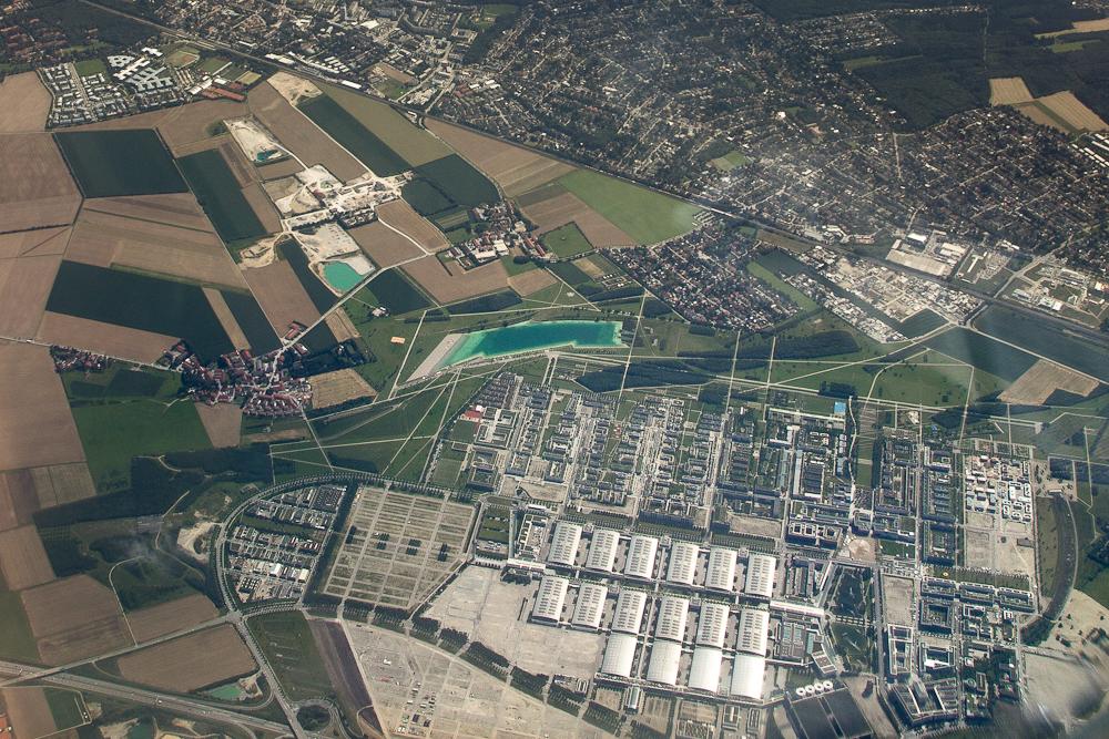 Messegelände München Luftbild Flughafen Riem