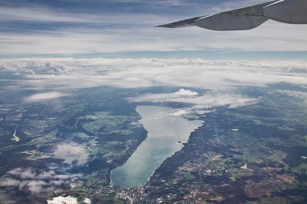 Starnberger See Luftbild Flugzeug