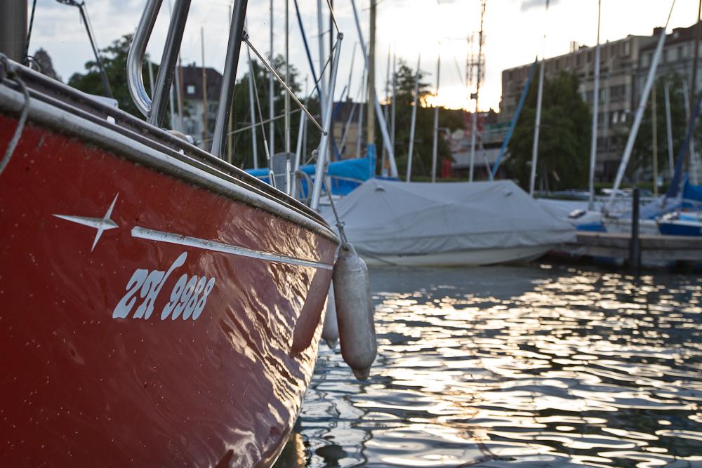 Segelschiff Boot Zürichsee Hafen Enge