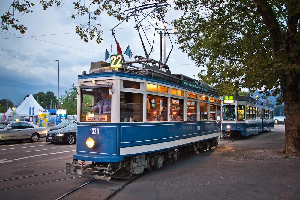Tram Straßenbahn Zürich Fondutram