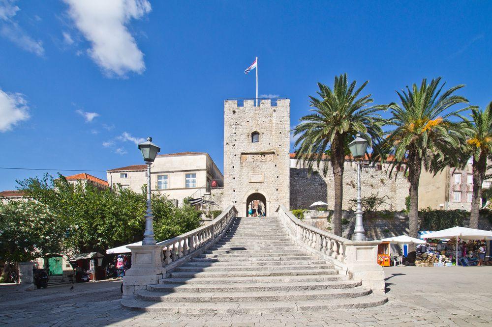 Historisches Tor Korcula Kroatien MS Europa 2