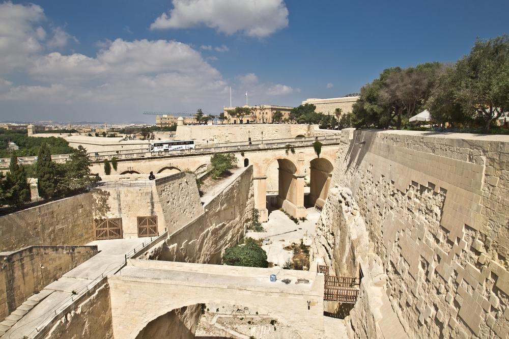 Upper Barrakka Gardens Malta Graben