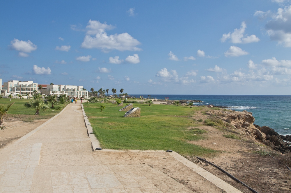 Strand Promenade Zypern Paphos Reise