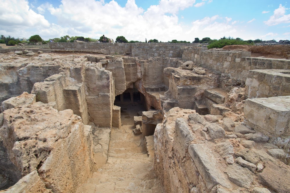 Paphos Zypern Königsgräber Nea Paphos Tombs of the kings