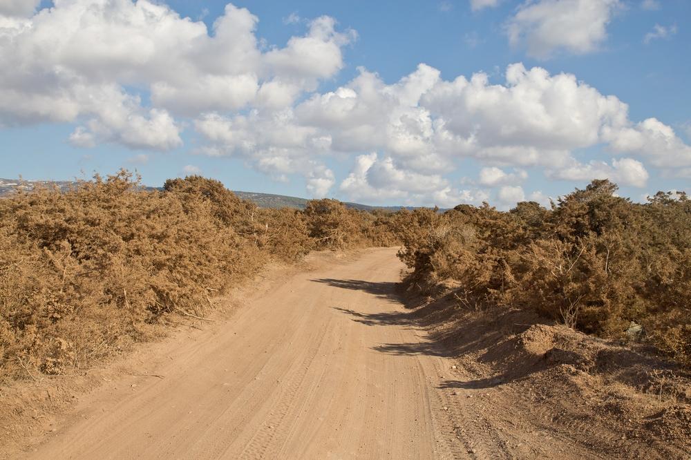 Straße Zypern Lara Bay Aspahlt Gravel