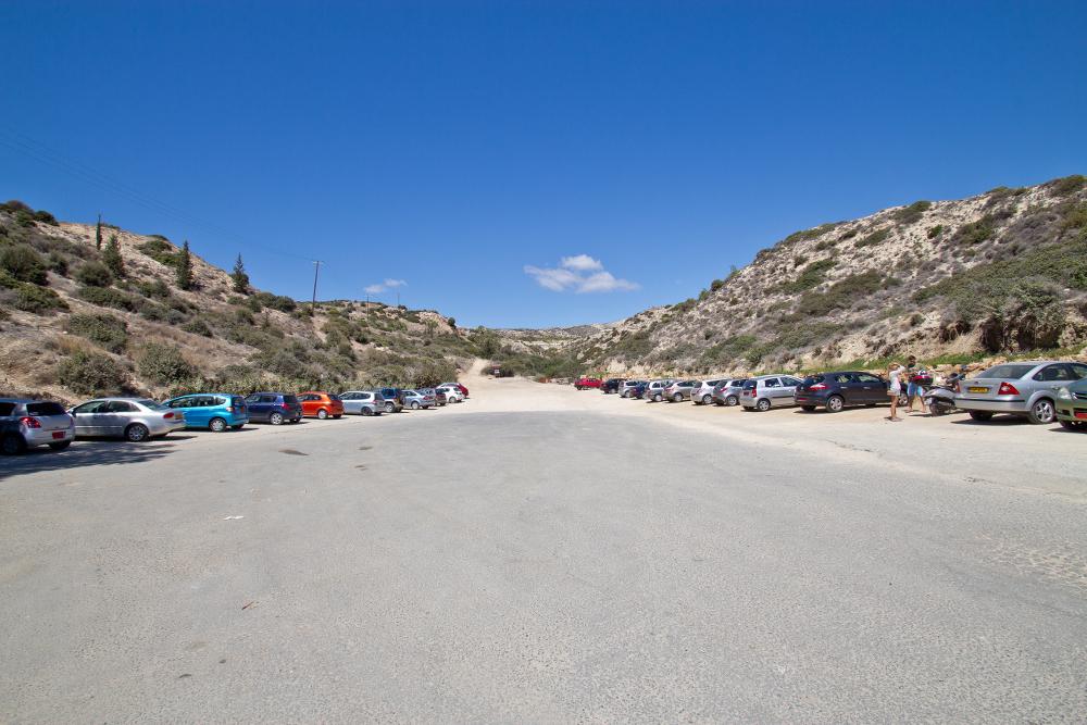 Parkplatz Geburtsort der Aphrodite Petra tou Romiou Zypern