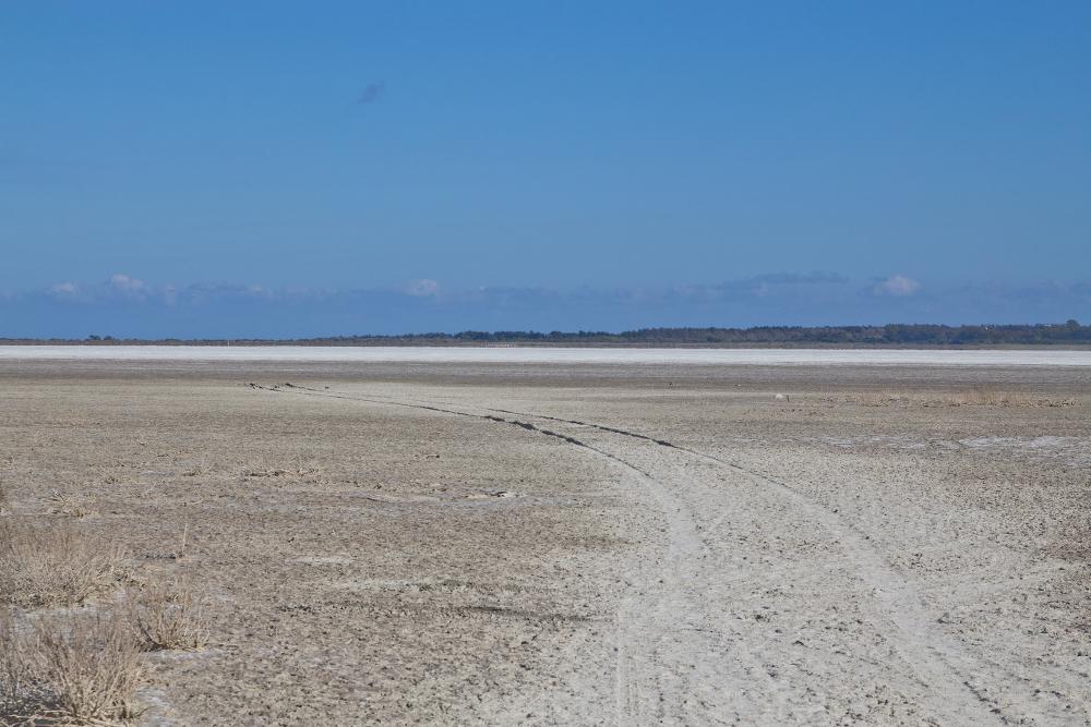 Salzwüste Salzsee auf der Halbinsel Akrotiri Zypern Limassol