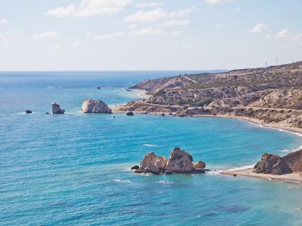 Küstenstrasse Landschaft Zypern Meer Westküste Roadtrip