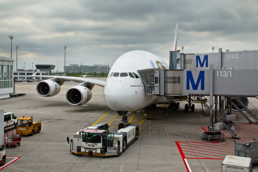 Airbus A380 Gate Flughafen München