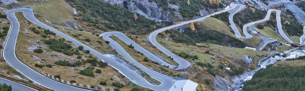 Stilfser Joch Westrampe Pass Straße Livigno