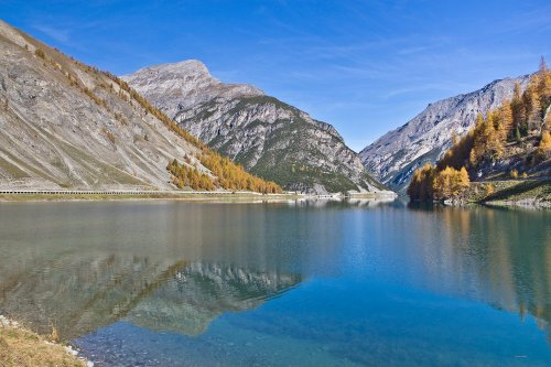 Lago die Livigno Gallerien Tunnel Schweiz