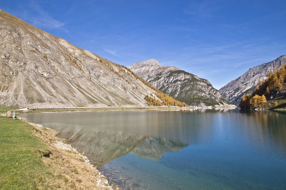 Lago di Livigno Gallerien Tunnel Schweiz