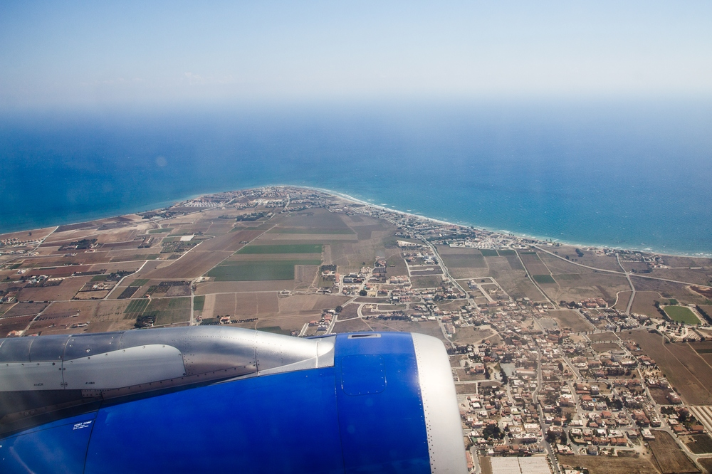 Luftbild Zypern Start Landung Flughafen Larnaka