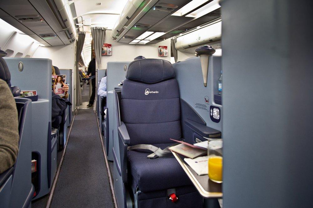 Business Class airberlin Sitz Full Flat