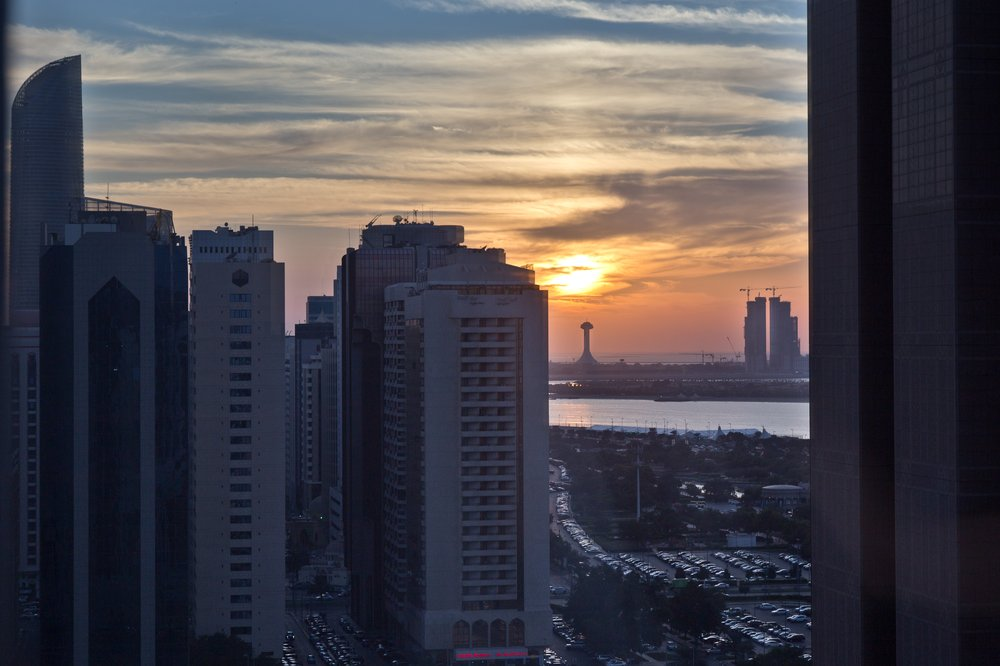 Sonnenuntergang Abu Dhabi Le Royal Meridien
