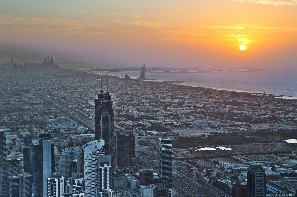 Dubai Sonnenuntergang Burj Khalifa