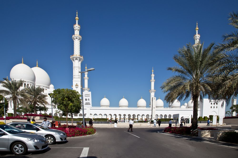 Taxi Sheik Zayed Moschee Abu Dhabi