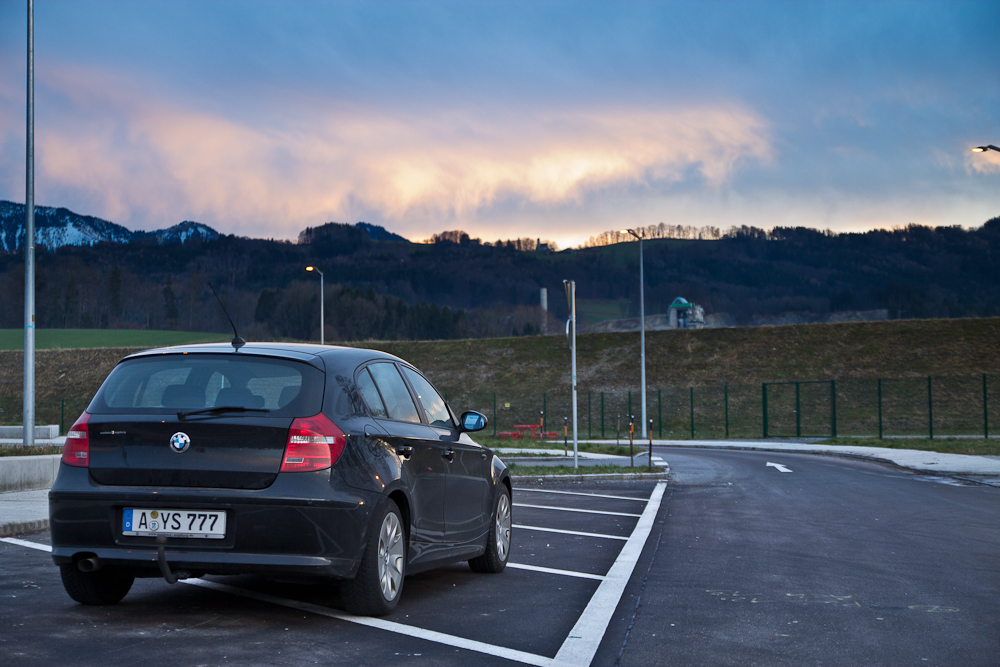 Fahrt Auto Bayern Schladming Alpen