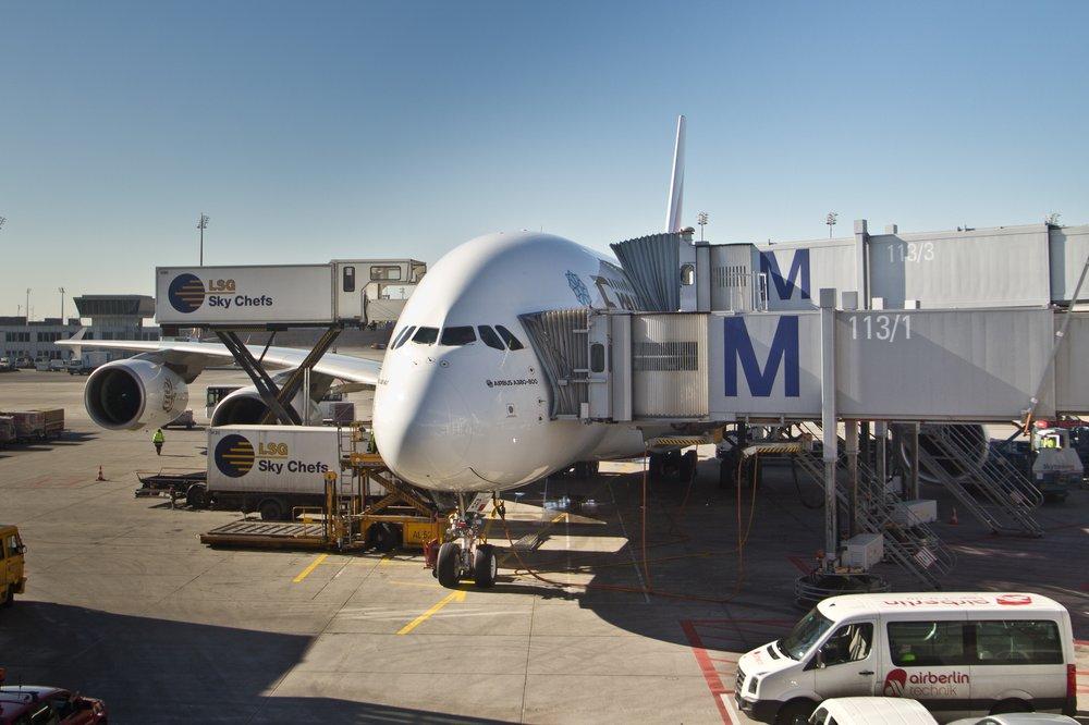 A380 München Flughafen Emirates