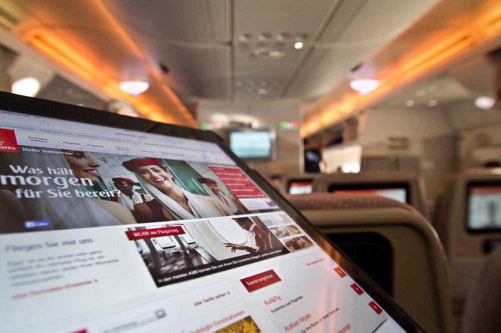 WLAN Ipad Emirates A380