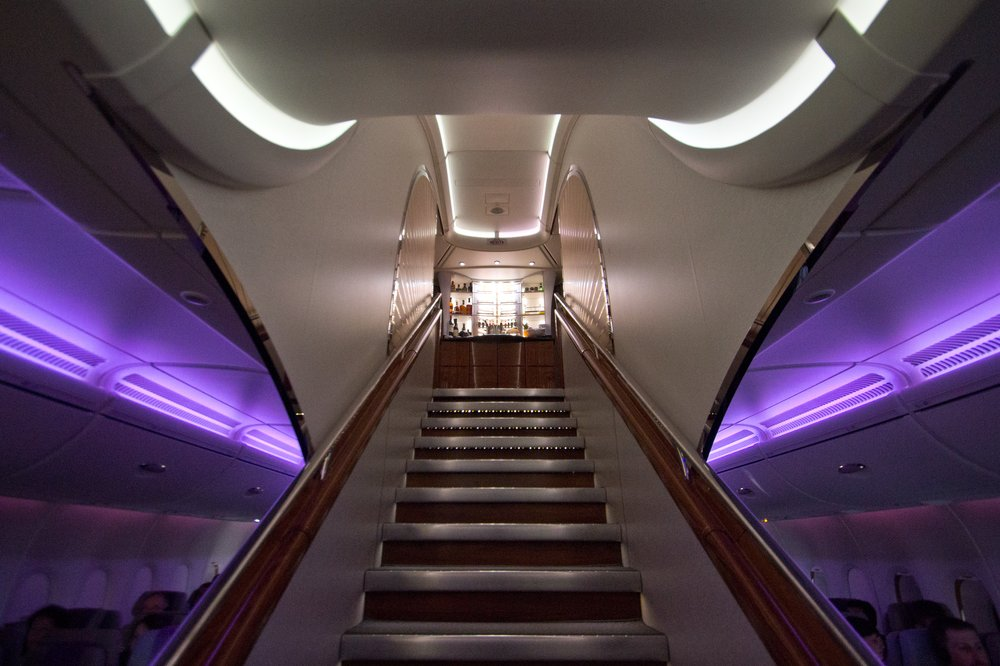 Treppe Emirates A380 Upper Deck