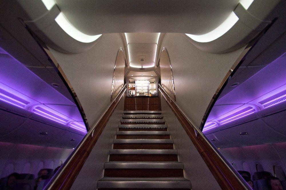 Treppe Emirates A380 Upper Deck