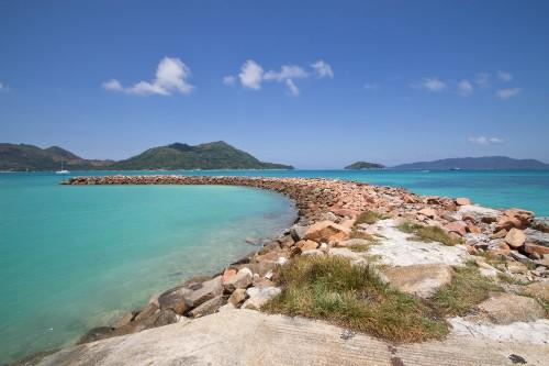Praslin Seychellen Hafen