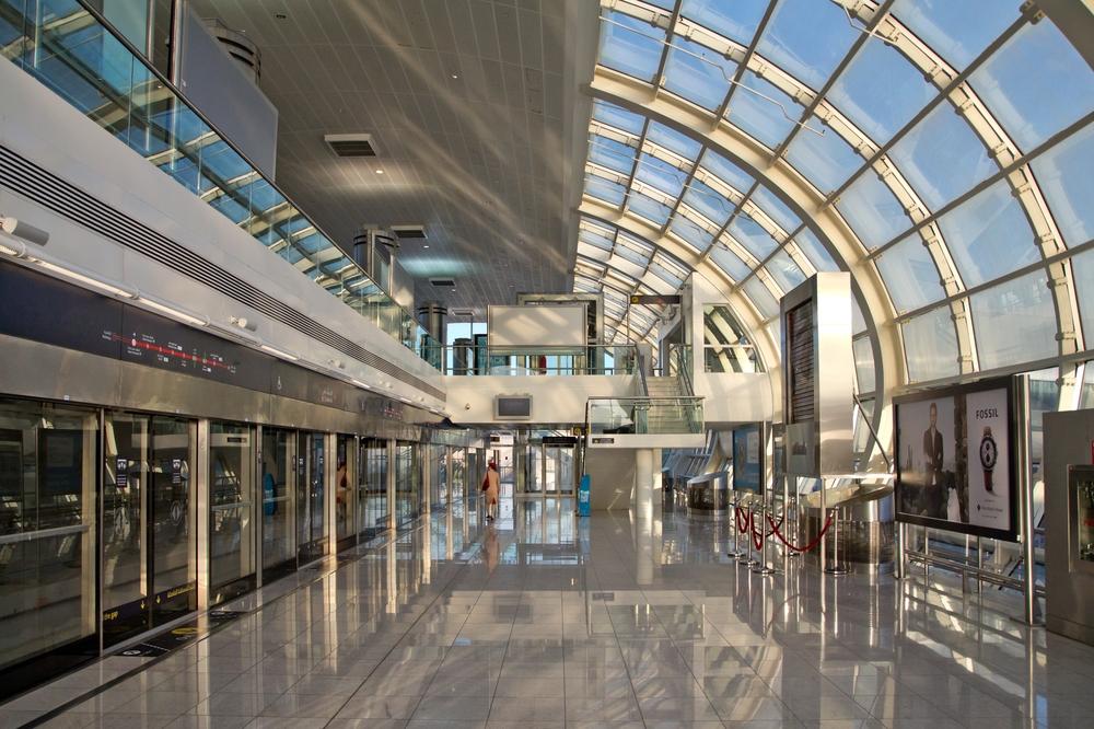 Dubai Metro Sunset Morning