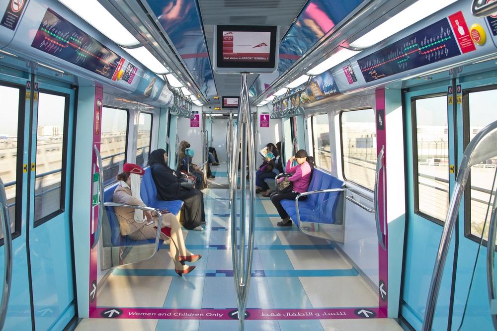Dubai Metro Cabin Inside