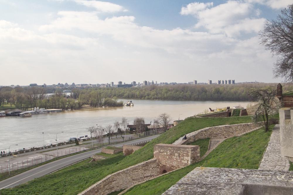 Mündung der Save in die Donau Belgrad Serbien