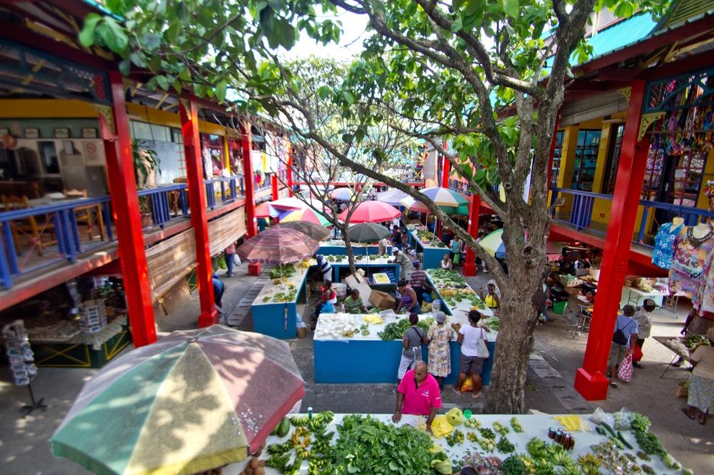 Markt Victoria Hauptstadt Seychellen Kreuzfahrt