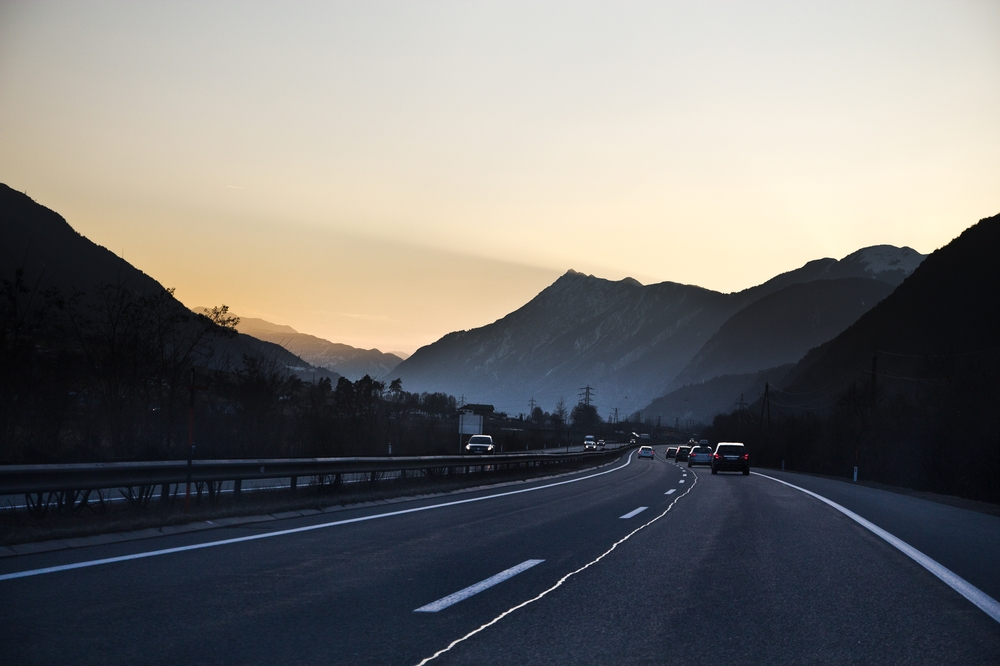Autofahrt A13 Innsbruck Maut